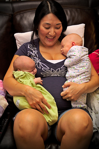 Holding Twins