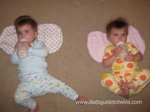 twins self-feeding