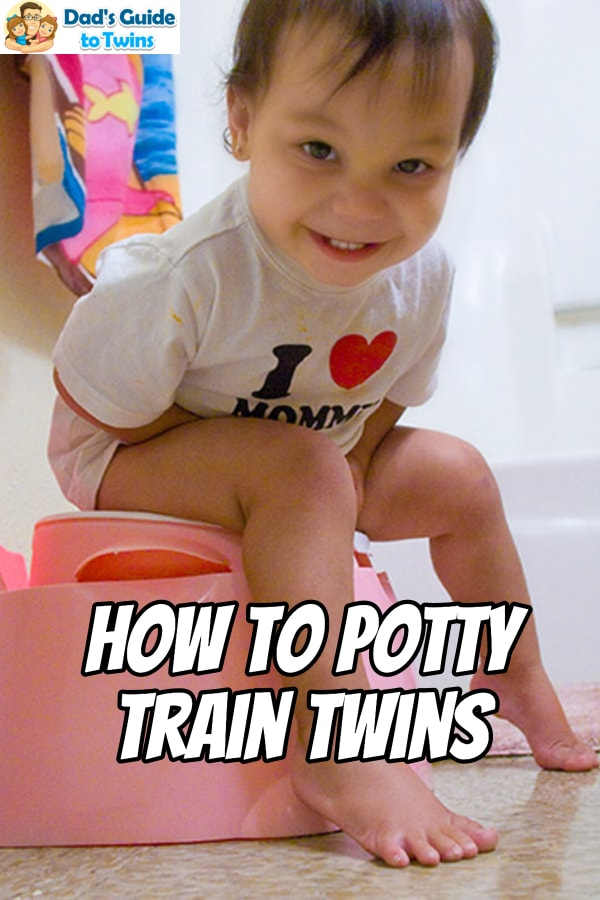 Step by step tips on when and how to potty train your twins. What to expect and how to overcome common challenges in training your twins to use the toilet.