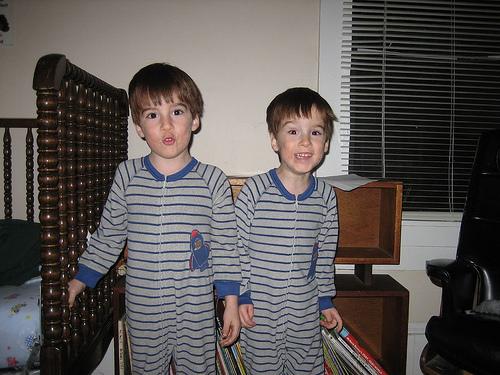 Twins in PJs
