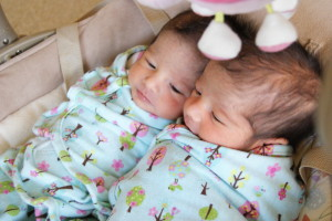 Sleeping Newborn Twins