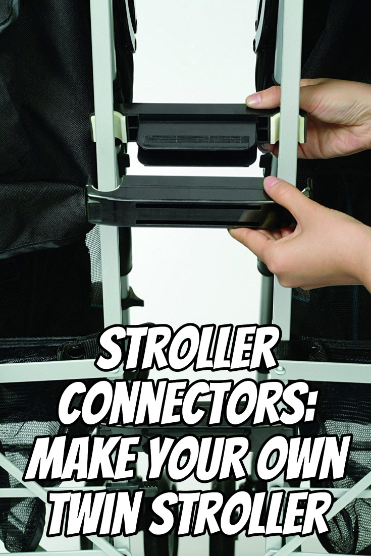 You can use stroller connectors to link two umbrella strollers to form a DIY double stroller for your twins. Here's what you need to know to make it work for your children.