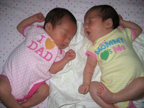 Sleeping Identical Twins
