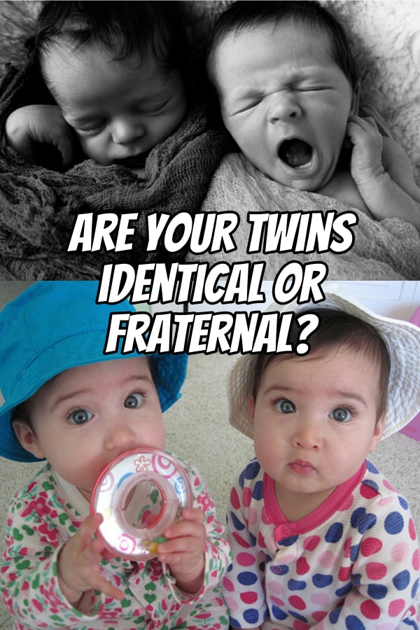 There are several ways to tell if your twins are identical or fraternal either during the pregnancy or after birth. See the types of twins you may have here.