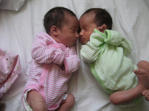 Caring for newborn twins