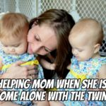 When Mom Gets Left Home Alone With the Twins