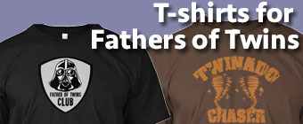 T-Shirts for Fathers of Twins