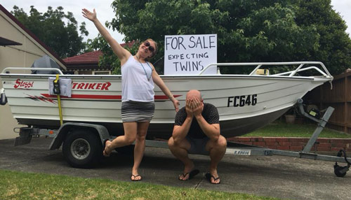 Selling boat to pay for twins