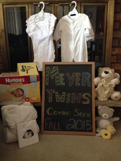 Chalkboard twin announcement