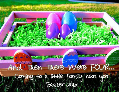 And then there were four - Easter themed twin announcement