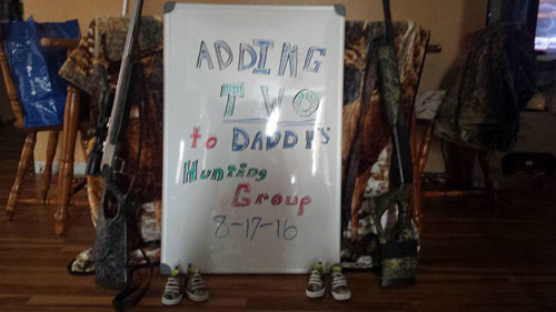 Adding two to daddy's hunting group