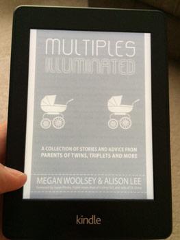Reading Multiples Illuminated on my Kindle