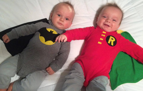 Batman and Robin twins