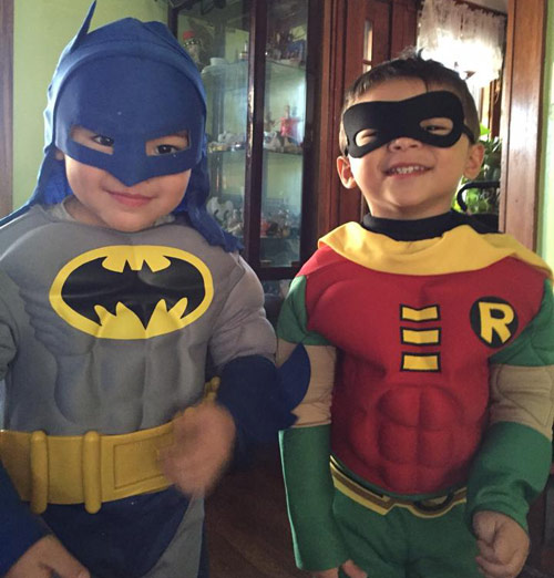 Batman and Robin twin pair