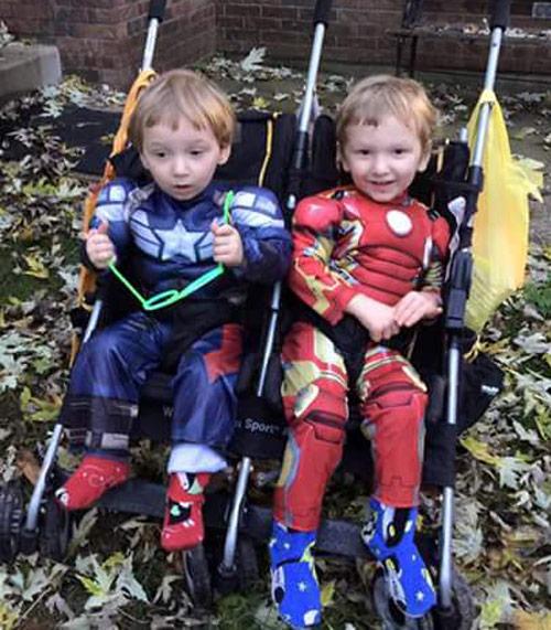 Superhero twins