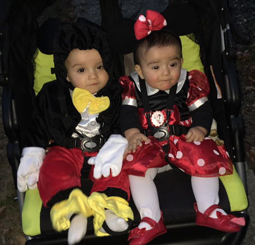 Mickey and Minnie Twins