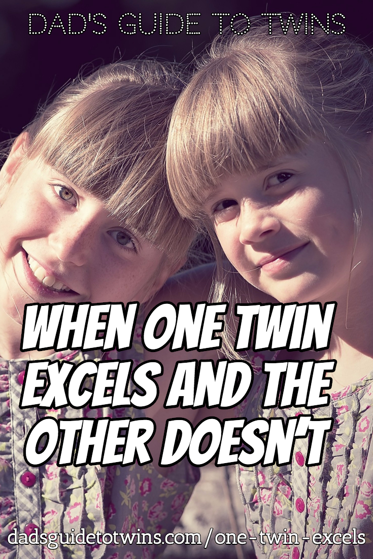 When One Twin Excels and the Other Doesn't