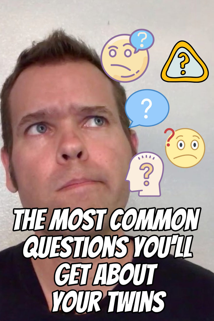 I asked dozens of twin parents like you what was the most common question they received about their twins. See the most common questions plus some very creative responses your fellow parents of twins shared with me. These examples will give you something funny to say when a stranger at the store asks about your twins.