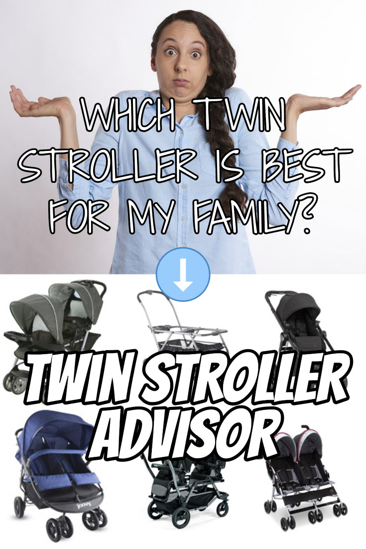 This Twin Stroller Advisor will walk you through important factors to consider when buying and then recommend the double strollers that will meet your needs.