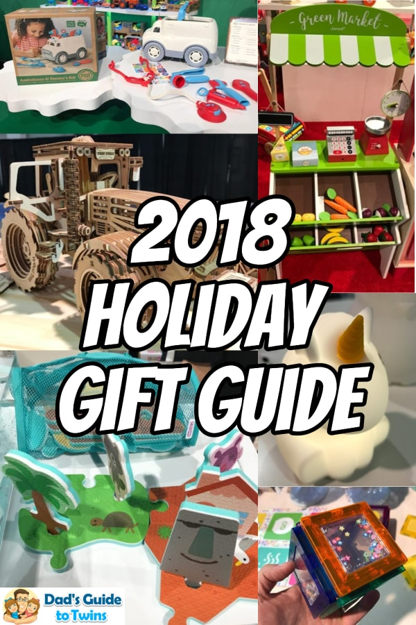 Updated 2018 Holiday Gift Guide for your twins. Includes toys and surprises for twins of all ages plus personal book recommendations from my kids.