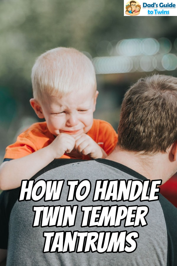 Twin temper tantrums can drive you as a parent crazy. Here are specific things you can do to help stop those crazy fits when you are out in public.