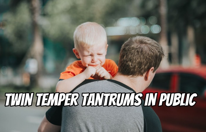 How to Handle Twin Temper Tantrums in Public