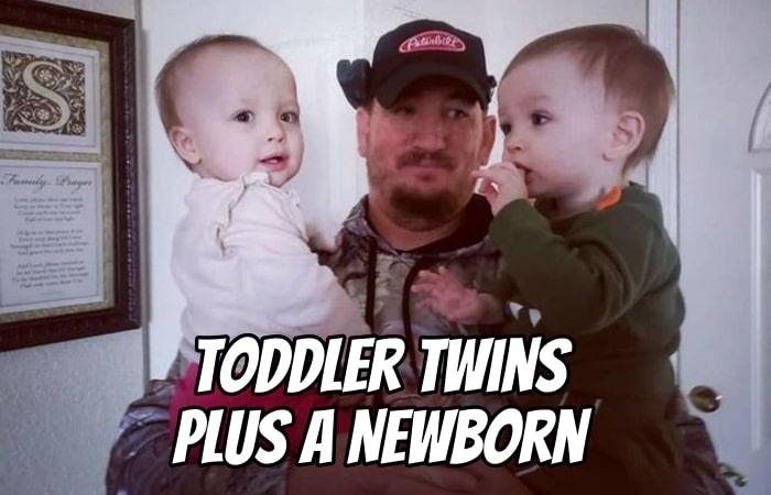 Toddler Twins Plus a Newborn