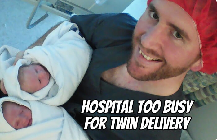 Hospital Too Busy for Twin Delivery