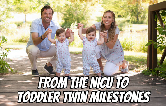 From the NICU to Toddler Twin Milestones